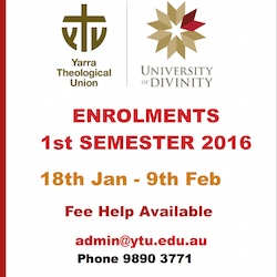 Yarra Theological Union (15Jan)Enrol