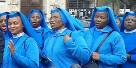 Nigerian Sisters of the Immaculate Heart of Mary Mother of Christ in Rome in 2016 (Vatican Media)