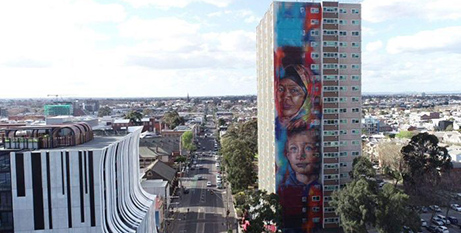 A public housing tower in the inner-Melbourne suburb of Collingwood (ABC News)