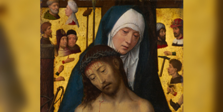 The stolen painting was a replica of 'Man of Sorrows in the arms of the Virgin' by Hans Memling (c 1475) (Detail/Google Arts and Culture)