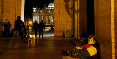 Homeless at St Peters