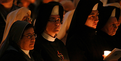 Sisters attend the Mass for religious at the Vatican, Saturday (CNS/Max Rossi)