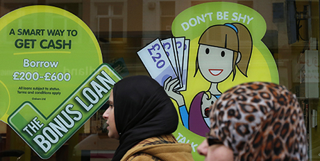 A payday loan shop in London (CNS/Suzanne Plunkett, Reuters)