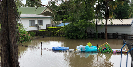 Flooding in Townsville this week (Townsville Diocese/Neil Helmore)