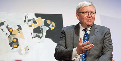 Kevin Rudd at ACU Melbourne on Wednesday (ACU)