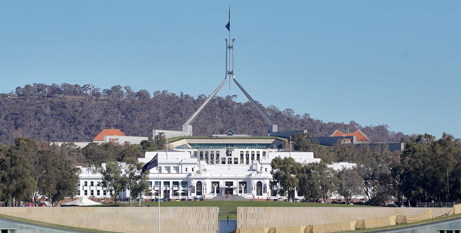 Parliament House, Canberra (WikiCommons)