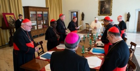 Francis with cardinal council