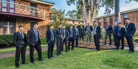 Seminarians at Good Shepherd Seminary, Homebush (Giovanni Portelli)