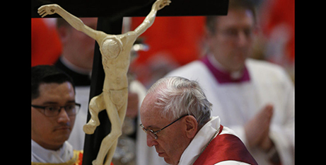 Pope Francis is encouraging devotion to the five wounds of Christ (CNS/Paul Haring)