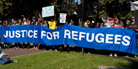 Protest calling for end to offshore detention (CAPSA)
