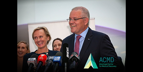 Scott Morrison announces the $30 million funding for the Aitkenhead Centre for Medical Discovery (ACMD)