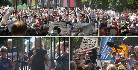 Scenes from the Walk for Justice for Refugees in Melbourne on Sunday (Melbourne Catholic)