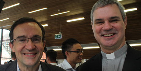 Dr Paul Taylor and Bishop Peter Comensoli (Melbourne Catholic)