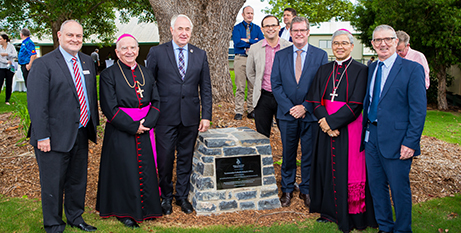 Dignitaries at the opening of the Toowoomba Catholic Schools Office on Friday (Toowoomba Catholic Schools Office)