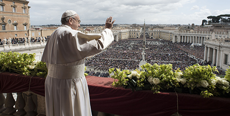 Pope Francis delivers the Urbi et Orbi on Sunday (CNS/Vatican Media)