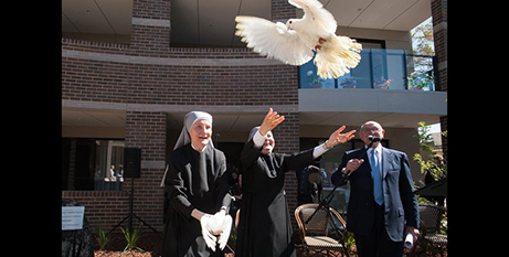 The Little Sisters of the Poor at the opening of the Holy Family Villa, 2017 (CAM)