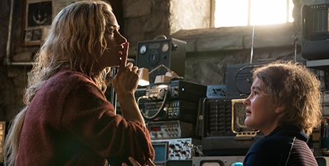 Emily Blunt and Millicent Simmonds in A Quiet Place (CNS/Paramount)