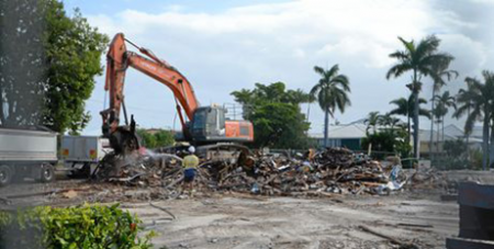 The church is demolished (The Morning Bulletin/Chris Ison)