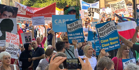 The 2019 Palm Sunday refugee rally in Melbourne (CSSV/Fiona Basile)