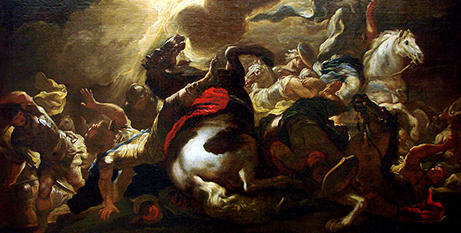 The conversion of St Paul by Luca Giordano (Wikimedia)