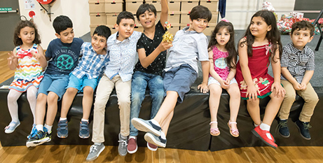 Children from the Melkite community who have successfully sought refuge in Sydney (Patrick Lee)