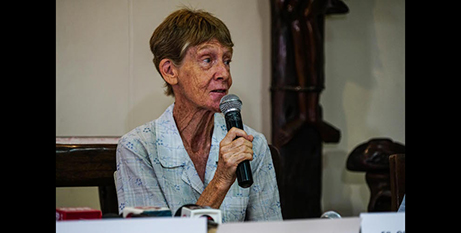 Sr Patricia Fox at her press conference yesterday (ucanews.com/Jire Carreon)