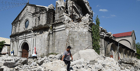An earthquake in the Philippines wreaks damage on the Church of St Catherine of Alexandria in Porac (Vatican News)