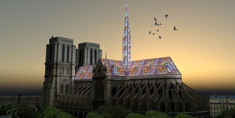 One architect's vision for Notre Dame Cathedral in Paris (ABC News/Alexandre Fantozzi)