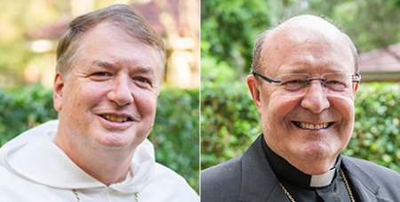 Archbishop Anthony Fisher OP (left) and Archbishop Julian Porteous (ACBC)