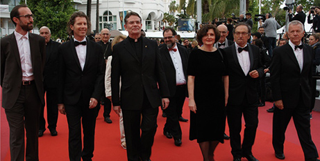 Fr Richard Leonard (third from left) with the Ecumenical Jury at the Cannes Film Festival (ACOFB)