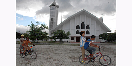 Immaculate Conception Cathedral, Dili (ucanews.com/Candido Alves, AFP)