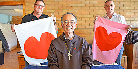 David Martin (Instyle Sleep Centre), Bishop Gregory Homeming and Lismore Mayor Isaac Smith (The Catholic Leader)