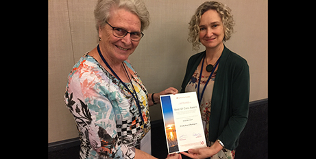 Sr Trudy Keur and Spiritual Care Australia President Kate Eve (Mercy Health)