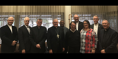 Sheree Limbrick with vicars-general last week (CPSL)