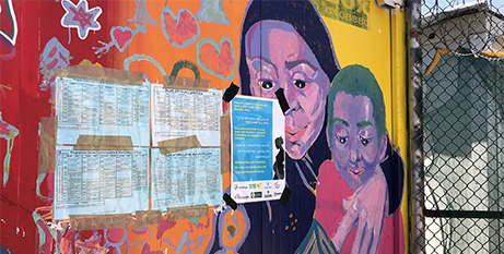 A mural at a refugee camp on the Greek island of Lesbos (Vatican News)