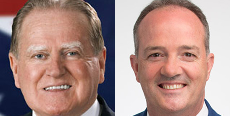 Rev Fred Nile and Paul Green (The Catholic Weekly)