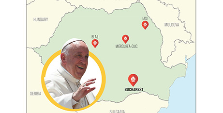 Pope Francis said he would visit Romania as a