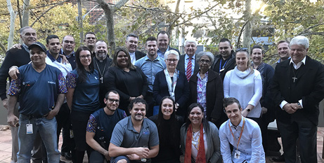 Bishops and members of the National Aboriginal and Torres Strait Islander Catholic Council visit St Vincent's Hospital (ACBC)
