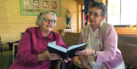 Lay ministers attending the liturgy training day in Wilcannia-Forbes Diocese (ACU)
