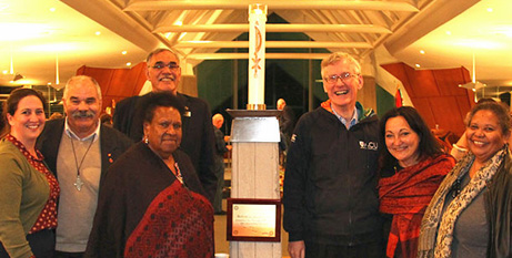 Attendees of ecumenical service promoting Indigenous justice (Tony Robertson/Catholic Leader)