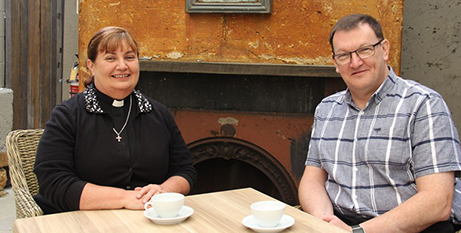 Dean Katherine Bowyer and Fr Andrew Doohan (Aurora)
