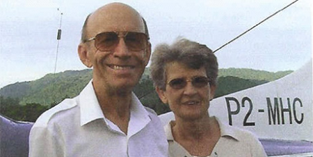 Kevin and Gail Shorthouse in Papua New Guinea in 2010 (Supplied)
