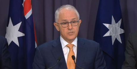 Prime Minister Malcolm Turnbull yesterday (ABC/screenshot)