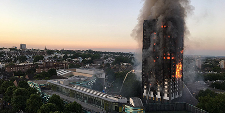 The Grenfell Tower fire (Natalie Oxford, CC by 4.0)