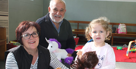 Adelaide couple Nadia and Gianni Moretti with granddaughter Priscilla (The Southern Cross)