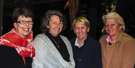 Lee-Ann Wein (second from left) on the night of her commitment ceremony (Aurora)