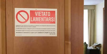 The no-complaining sign (Vatican Insider)