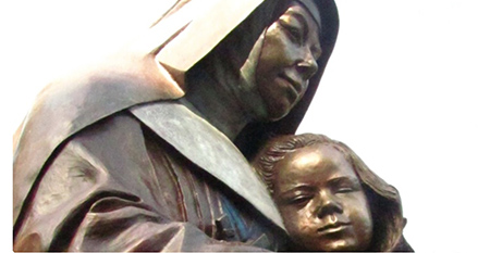 A statue of St Mary MacKillop (Sisters of St Joseph)