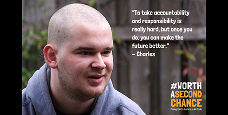 Charles fronts the youth justice campaign (Jesuit Social Services)