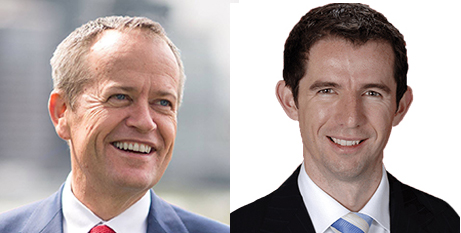 Bill Shorten (left) and Simon Birmingham (Facebook)